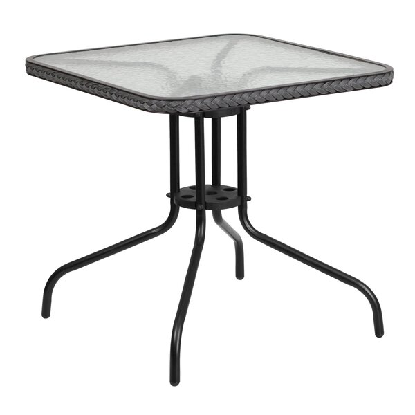 Medina Glass Dining Table by Charlton Home