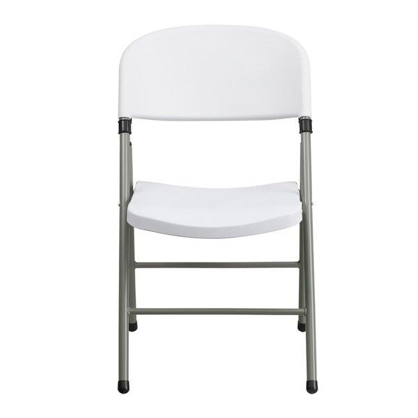 Gaia Plastic Folding Chair by Symple Stuff