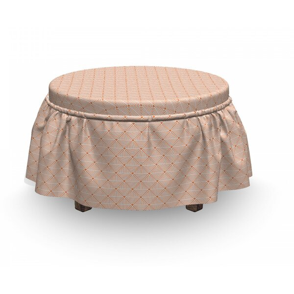Monochrome Scale Ottoman Slipcover (Set Of 2) By East Urban Home