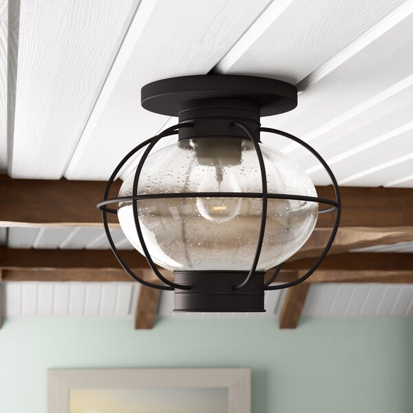 Francestown 1-Light Flush Mount by Bay Isle Home