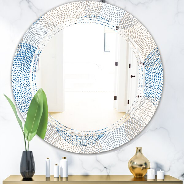Triple C Abstract Design I Modern Frameless Wall Mirror