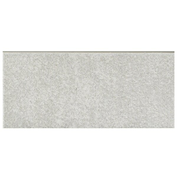 Forties 3.5 x 7.75 Ceramic Bullnose Tile Trim in Gray by EliteTile