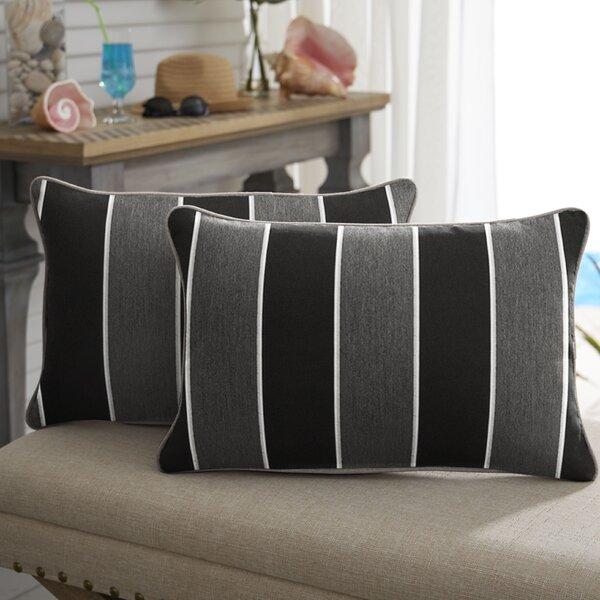 Coyan Sunbrella Peyton Granite Outdoor Lumbar Pillow (Set of 2) by Red Barrel Studio