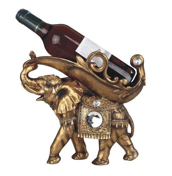 Glenaire Thai Elephant 1 Bottle Tabletop Wine Bottle Rack by Bloomsbury Market Bloomsbury Market