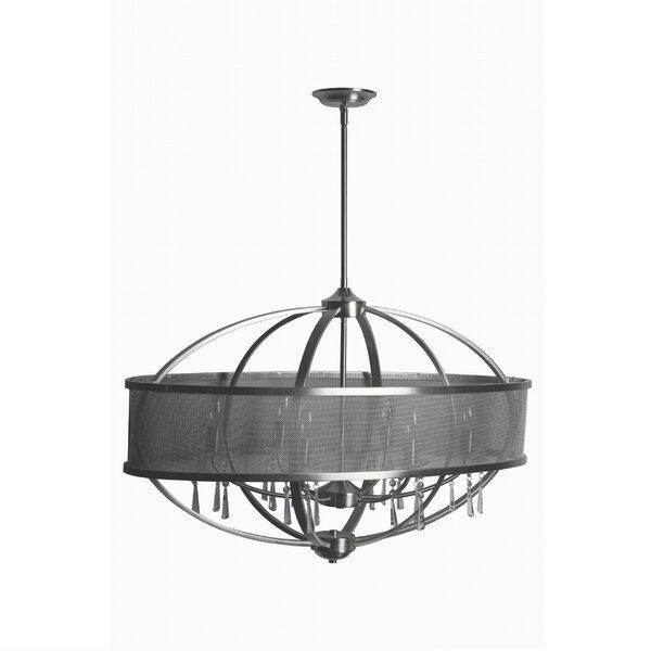 Rina 6 - Light Unique Geometric Chandelier By Mercer41