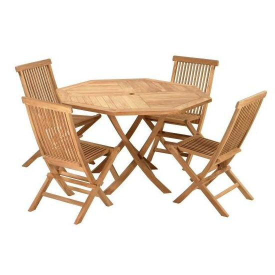 Crestwood 5 Piece Teak Dining Set by D-Art Collection
