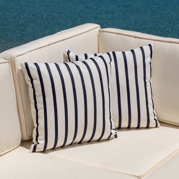 Edisto Outdoor Throw Pillow (Set of 2) by Breakwater Bay