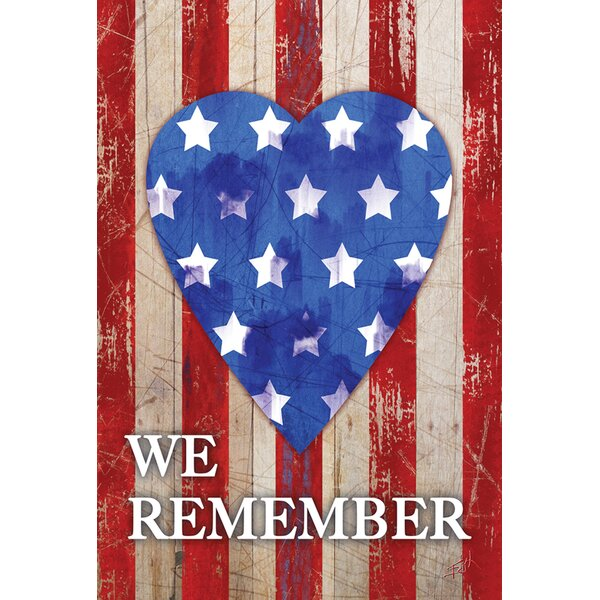 We Remember Our Heroes 2-Sided Garden flag by Toland Home Garden