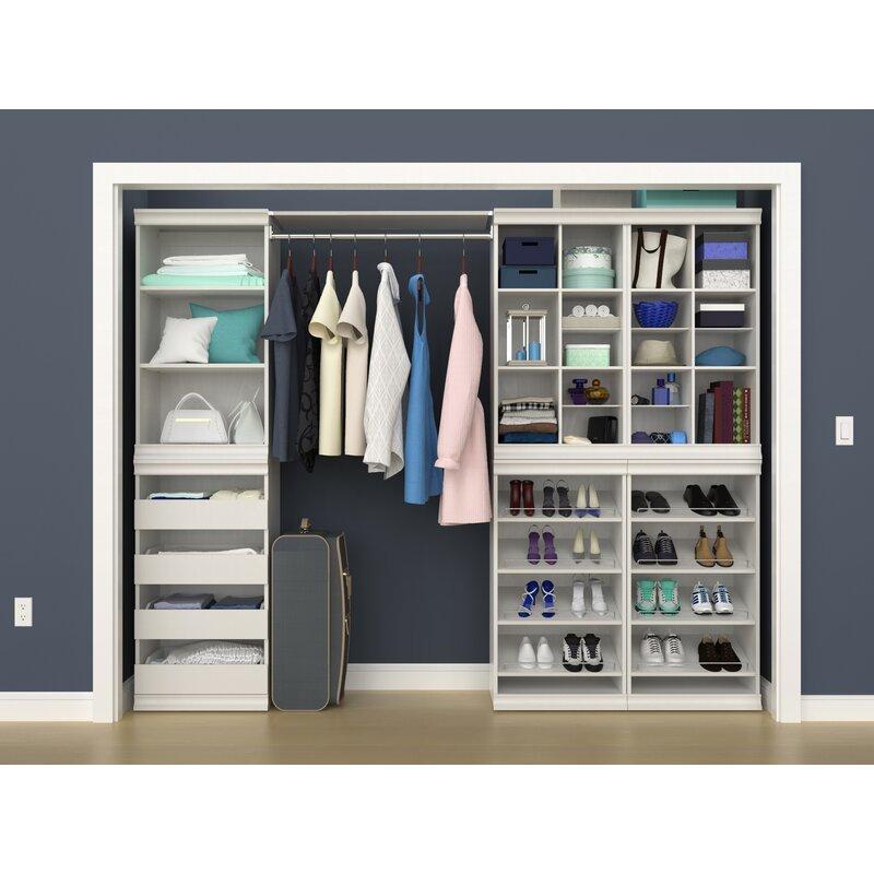 Closetmaid Modular 112 14 W Closet System Reviews Wayfair