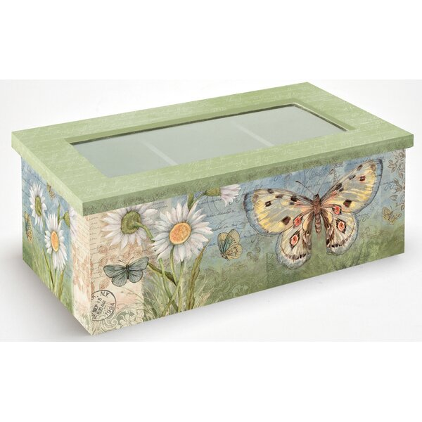 Butterfly Daisy Tea Box by Lang