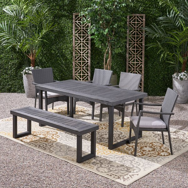 Revilla 6 Piece Dining Set with Cushions by Williston Forge