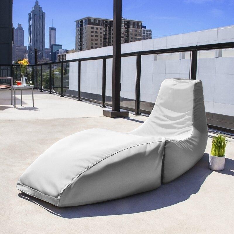 Prado Outdoor Bean Bag Chaise Lounge Chair