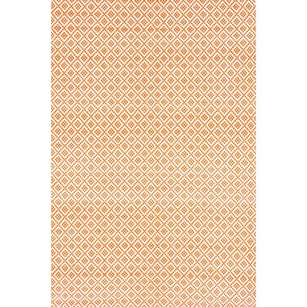 Ora Hand-Loomed Cotton Orange Area Rug by nuLOOM