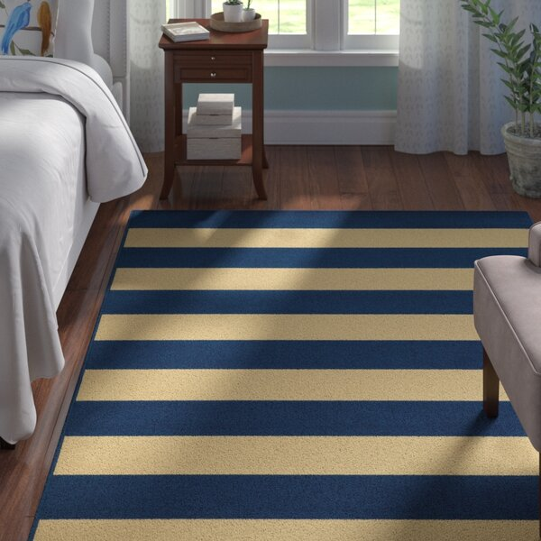 Alford Hand-Woven Dark Blue/Ivory Indoor/Outdoor Area Rug by Andover Mills