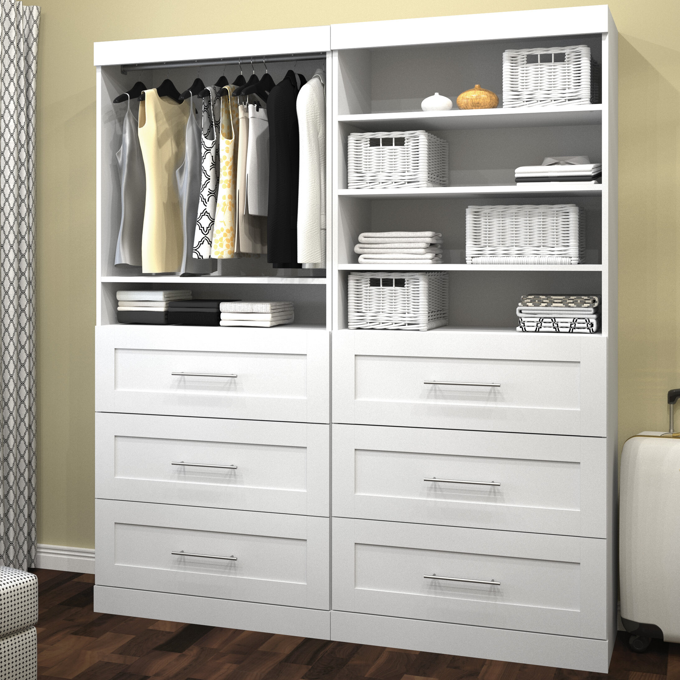 painted and drawers with wardrobe closets white large for closet wooden