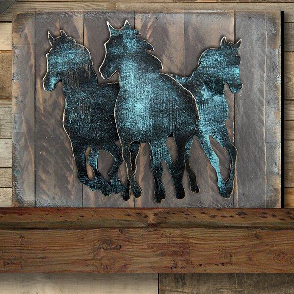 Gallery Wild Stallion on Wood by Designocracy