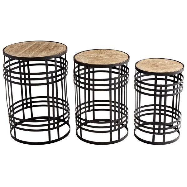 Banded About 3 Piece Nesting Tables By Cyan Design