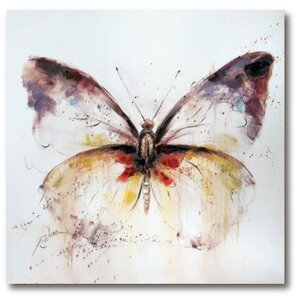 'Butterfly' Acrylic Painting Print on Canvas by Winston Porter