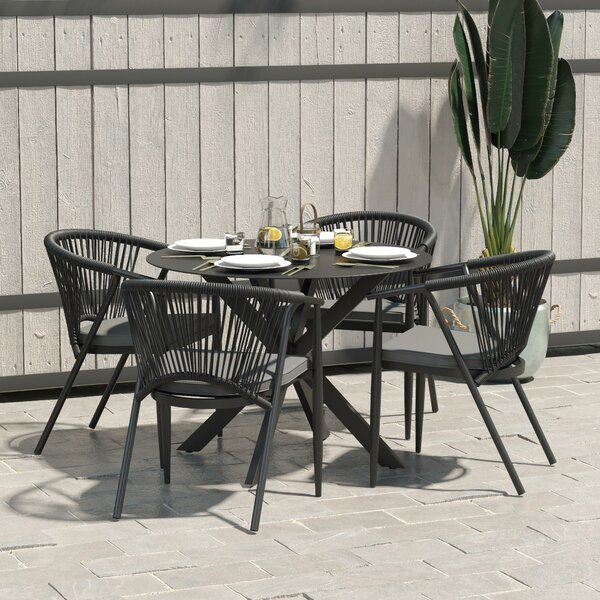 Circi Stacking Patio Dining Chair (Set Of 4) By CosmoLiving By Cosmopolitan by CosmoLiving by Cosmopolitan Wonderful