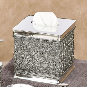 Whitechapel Beaded Heart Boutique Tissue Box Cover