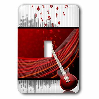 3drose Musical Notes Ribbon 1 Gang Toggle Light Switch Wall Plate Wayfair