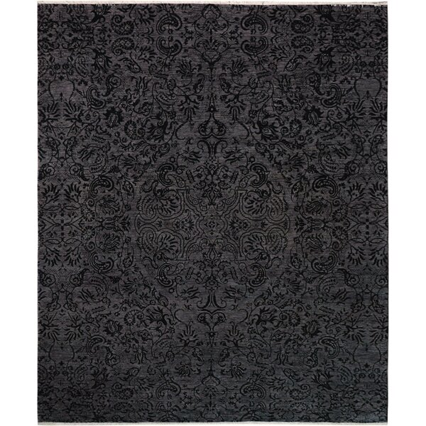One-of-a-Kind Palmquist Hand-Knotted Charcoal/Gray Area Rug by Bloomsbury Market