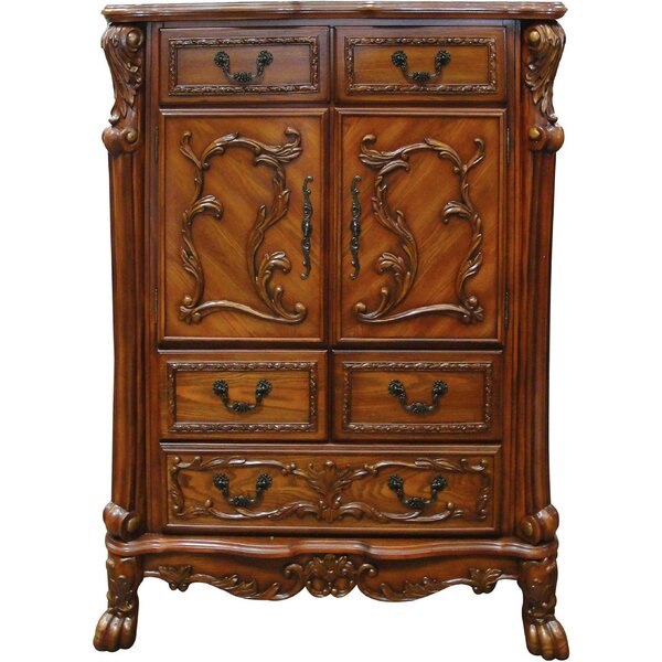 Alondra Wooden 5 Drawer Accent Cabinet by Astoria Grand