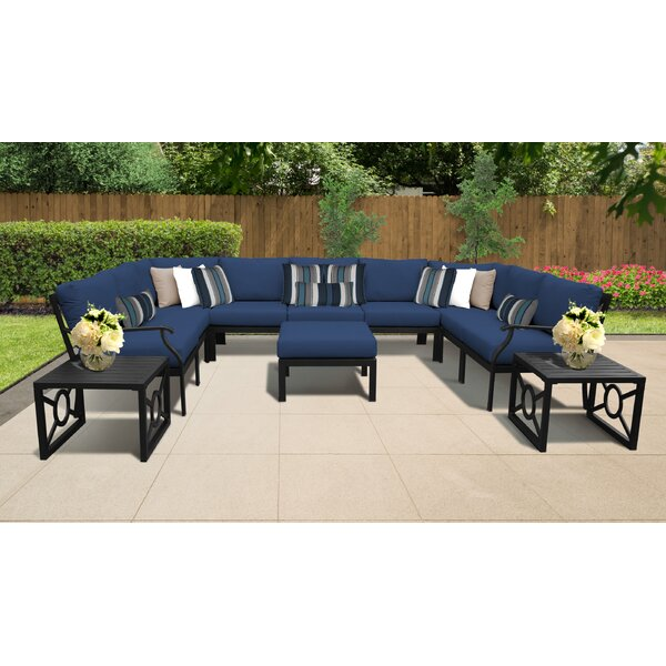 Kathy Ireland Homes & Gardens Madison Ave. 12 Piece Outdoor Wicker Patio Furniture Set 12g by Kathy Ireland Home & Gardens by TK Classics Kathy Ireland Home & Gardens by TK Classics