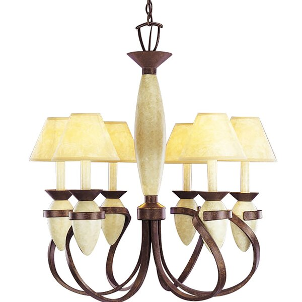 Platt 6-Light Shaded Chandelier by Bay Isle Home