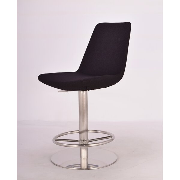Ely Adjustable Height Swivel Bar Stool by Orren Ellis Orren Ellis