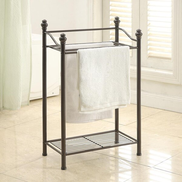 Boatner Free Standing Towel Stand by Three Posts