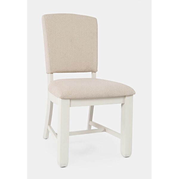 Dilan Upholstered Side Chair In Vintage White (Set Of 2) By August Grove
