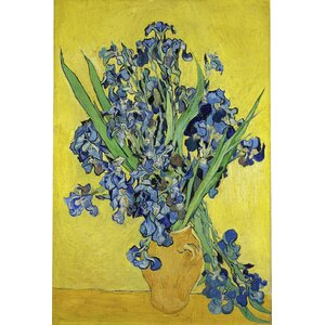 'Iris Irises Flowers' by Vincent van Gogh Painting Print on Canvas