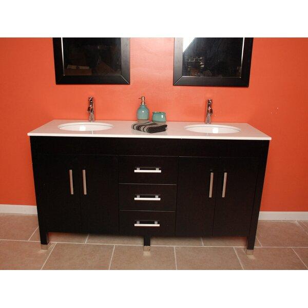 Secor 60 Double Bathroom Vanity Set with Mirror by Latitude Run