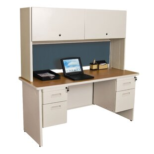 Crivello Double File Computer Desk with Hutch