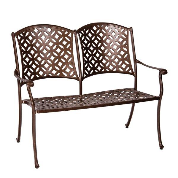 Casa Aluminum Garden Bench with Cushion by Woodard Woodard