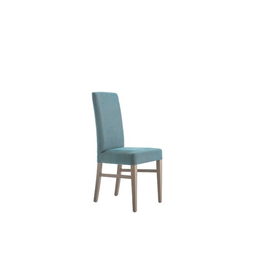 Lyon Upholstered Dining Chair (Set of 2) Marlow Home Co. Leg Colour: Walnut, Upholstery Colour: Faux Leather - Cream