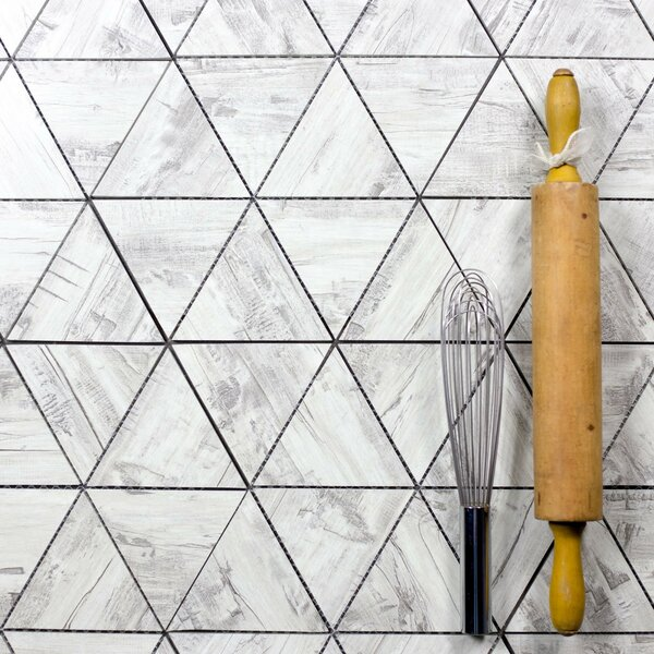 Nature 11.75 x 12.25 Glass Tile in Birchwood Gray/Gray by Abolos