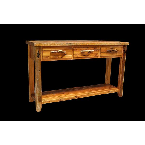 Jorgensen 3 Drawer Console Table by Loon Peak