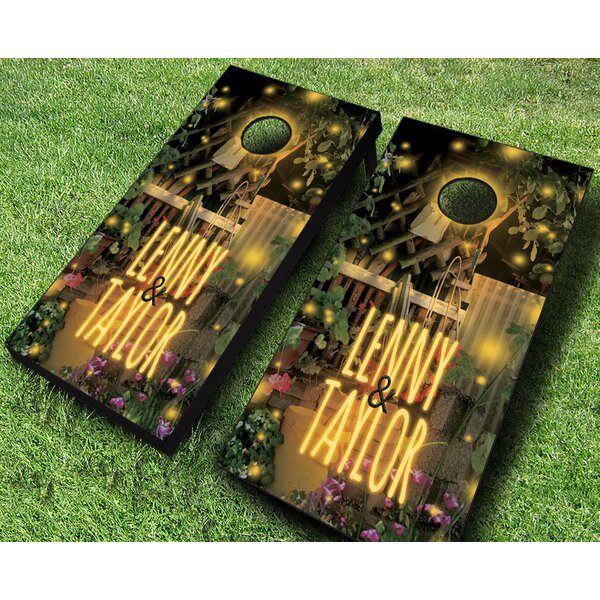 Garden Lights Cornhole Set by AJJ Cornhole