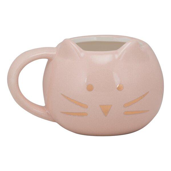 Ziaa Front Facing Ears Cat Face Mug by Latitude Run