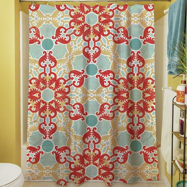 Kerrie Geometric Shower Curtain by Red Barrel Studio