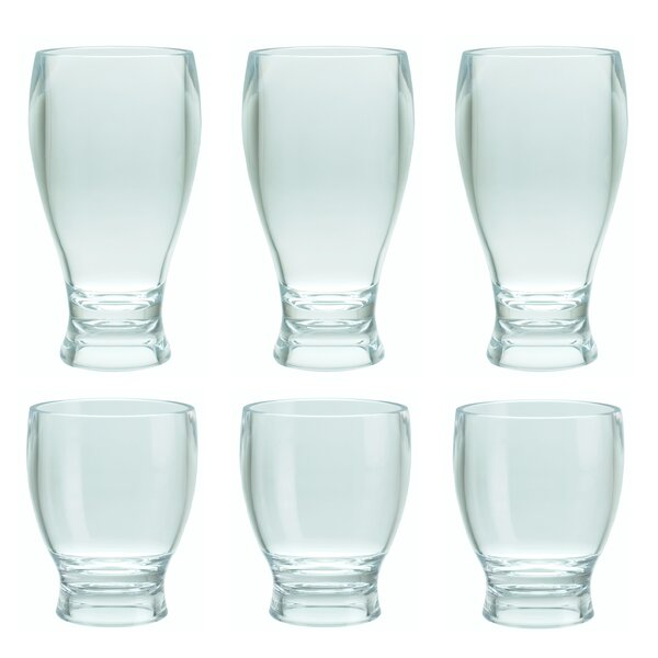 Bairdford 6-Piece Plastic Assorted Glassware Set by Charlton Home