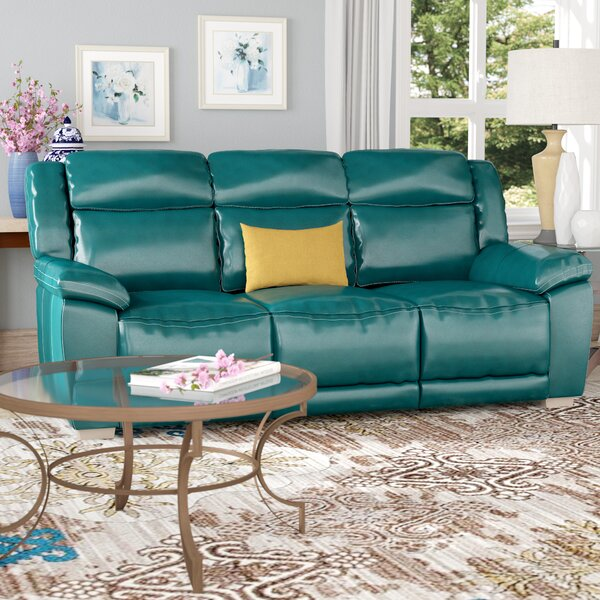 Evansburg Leather Reclining Sofa by Red Barrel Studio