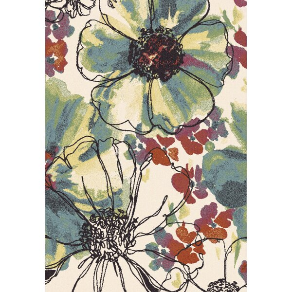 Martin Floral Area Rug by Ebern Designs