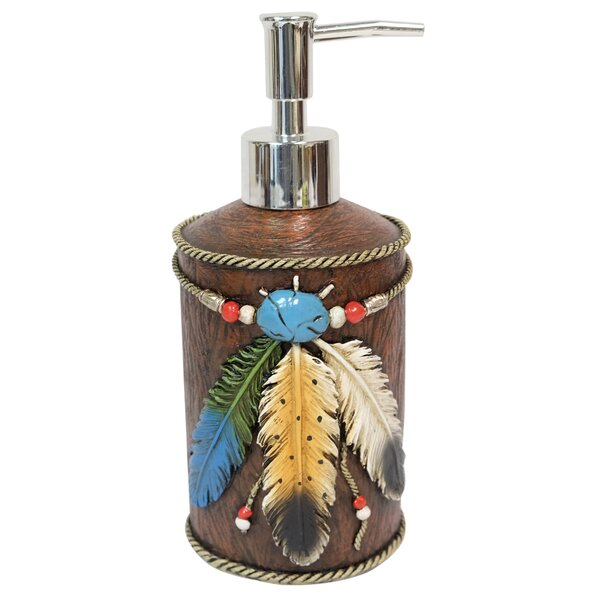 3 Feathers 8 Case Soap & Lotion Dispenser by De Leon Collections