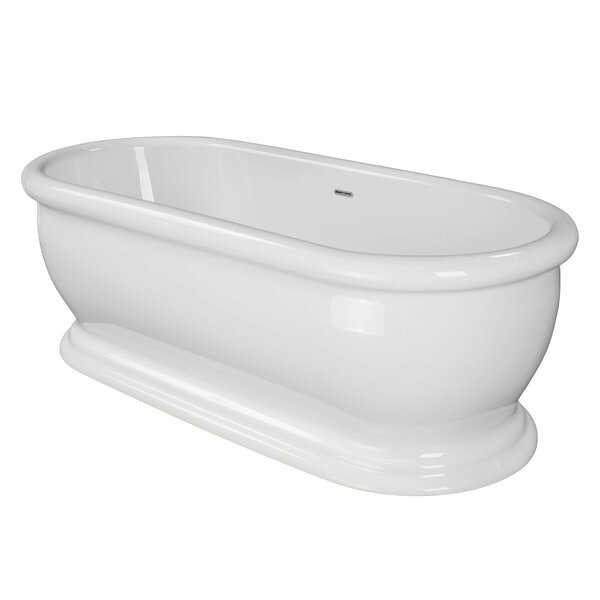 Elizabeth 69 x 31 Freestanding Soaking Bathtub by Maykke