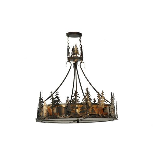 4 - Light Lantern Drum Chandelier by Meyda Tiffany Meyda Tiffany