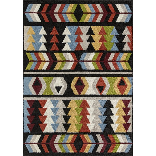 Oxley Tribal Black Area Rug by Loon Peak