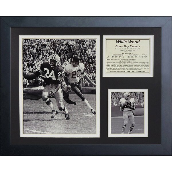 Willie Wood Framed Memorabilia by Legends Never Die
